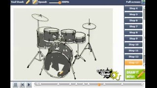 How To Draw A Drum Set, Drums