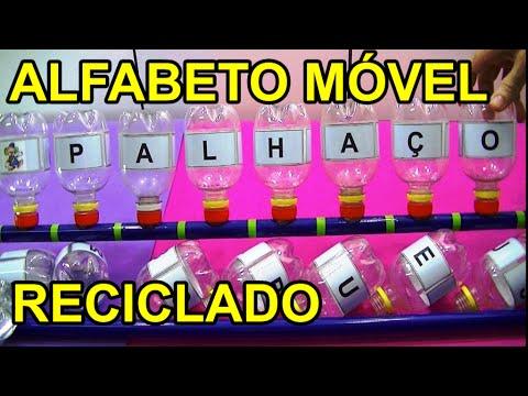 Alfabeto Movel Reciclado Construcao De Palavras Youtube