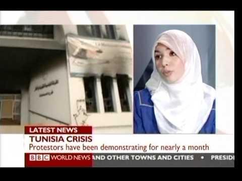 Tunisian crisis jan14th 2011 BBC World news