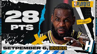 LeBron James 28 Pts 9 Ast 11 Reb Full Game 2 Highlights vs Rockets | September 6, 2020 NBA Playoffs