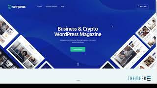 Coinpress ICO Cryptocurrency Magazine amp Blog WordPress Theme