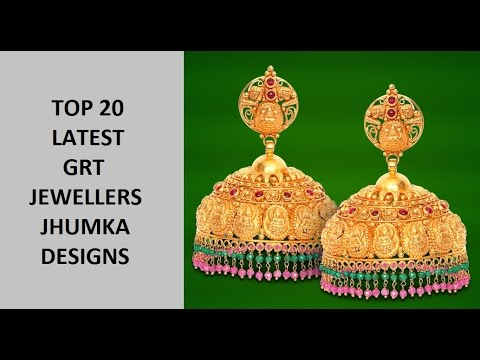 3c78f3a9c Top 20 Latest GRT Jewellers Gold Jhumka Designs - YouTube