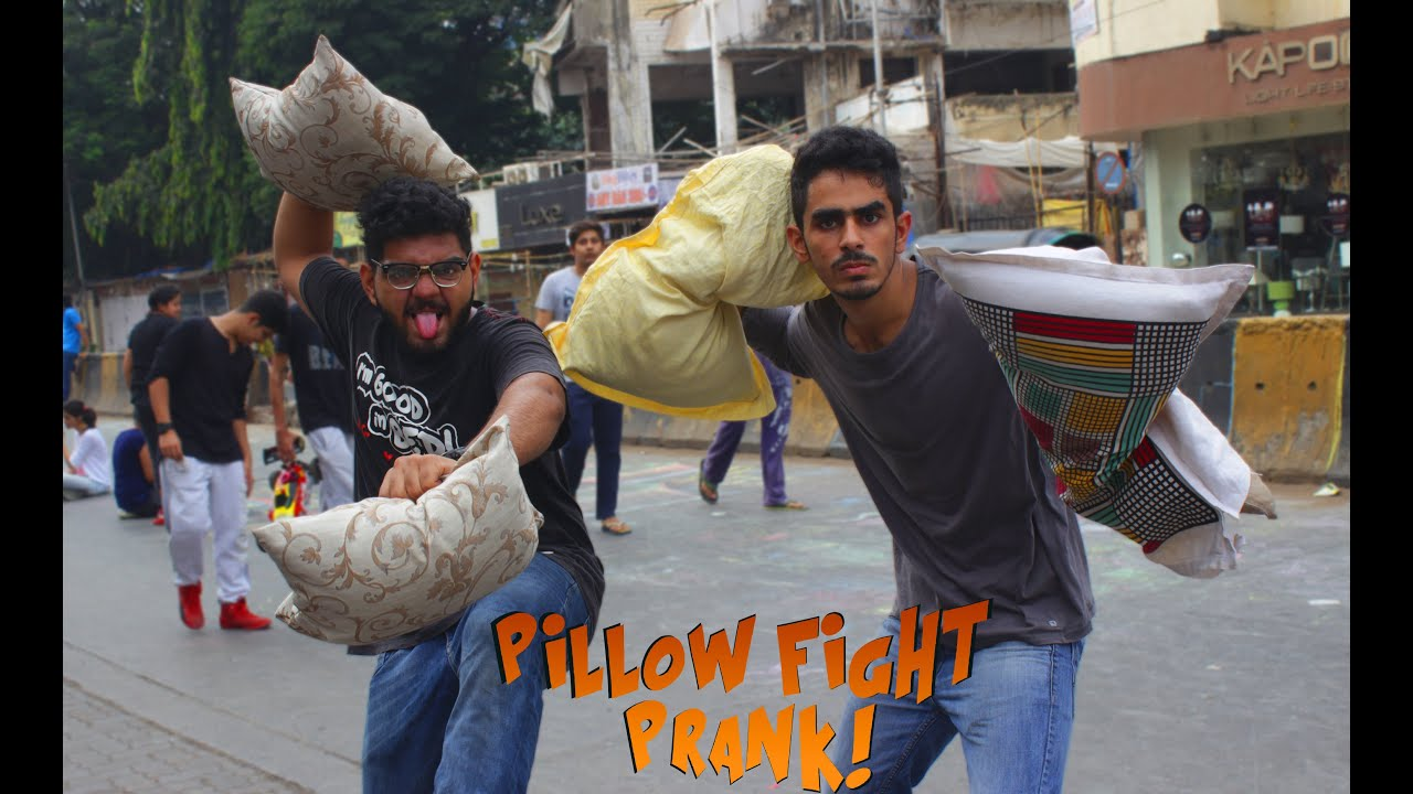 Pillow Fight Prank Youtube