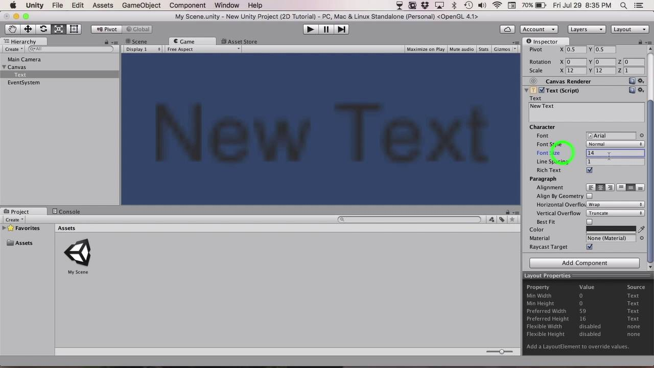 Unity 5 Tutorial - How To Sharpen Your Text