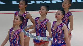 KL2017 29th SEA Games |  Gymnastics (Rhythmic) - Single Apparatus - Hoops FINALS | 27/08/2017