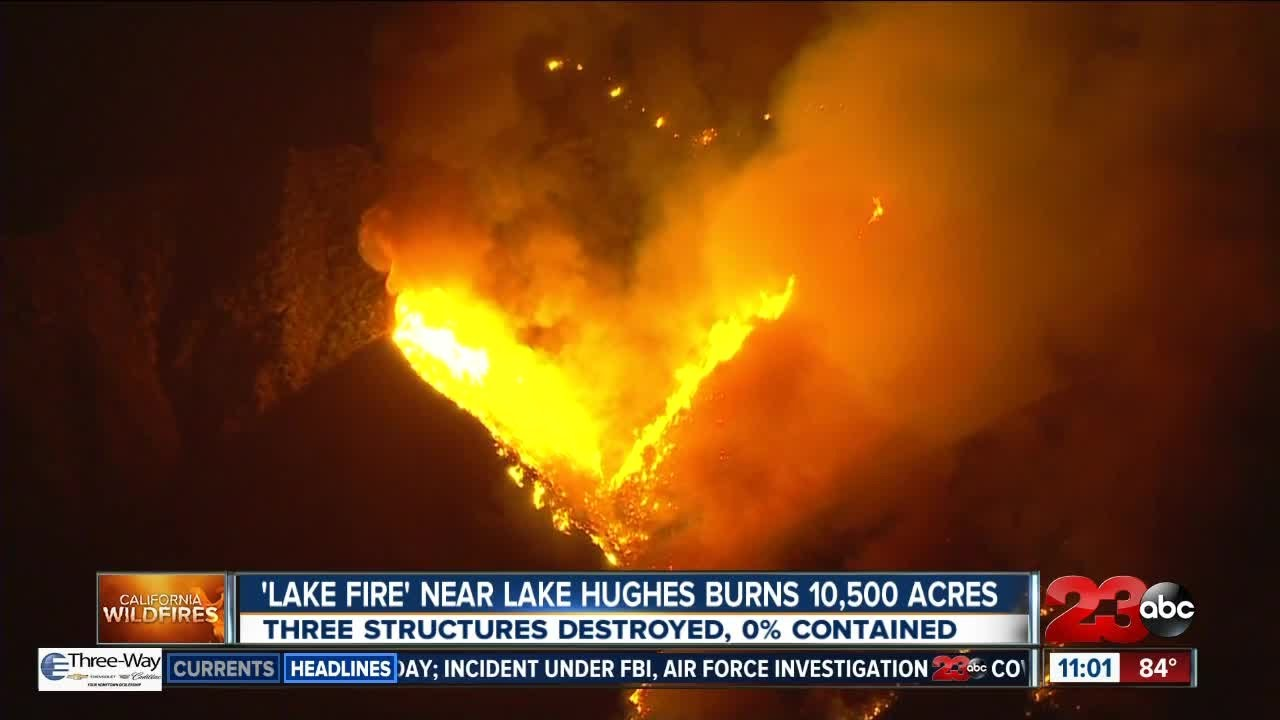 Fire in Lake Hughes area destroys at least 3 structures