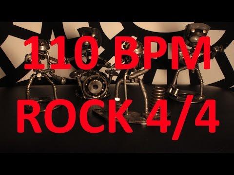 110 BPM  ROCK  44 Drum Track  Metronome