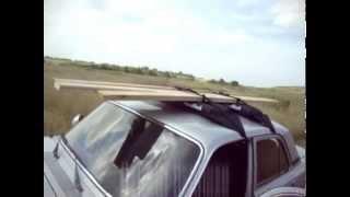 """Надувной багажник на крышу Handirack: тест-драйв на """"Волге"""""""
