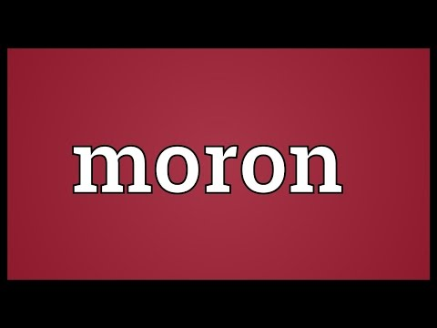 Moron Meaning