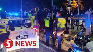 Three held over stolen police patrol vehicle