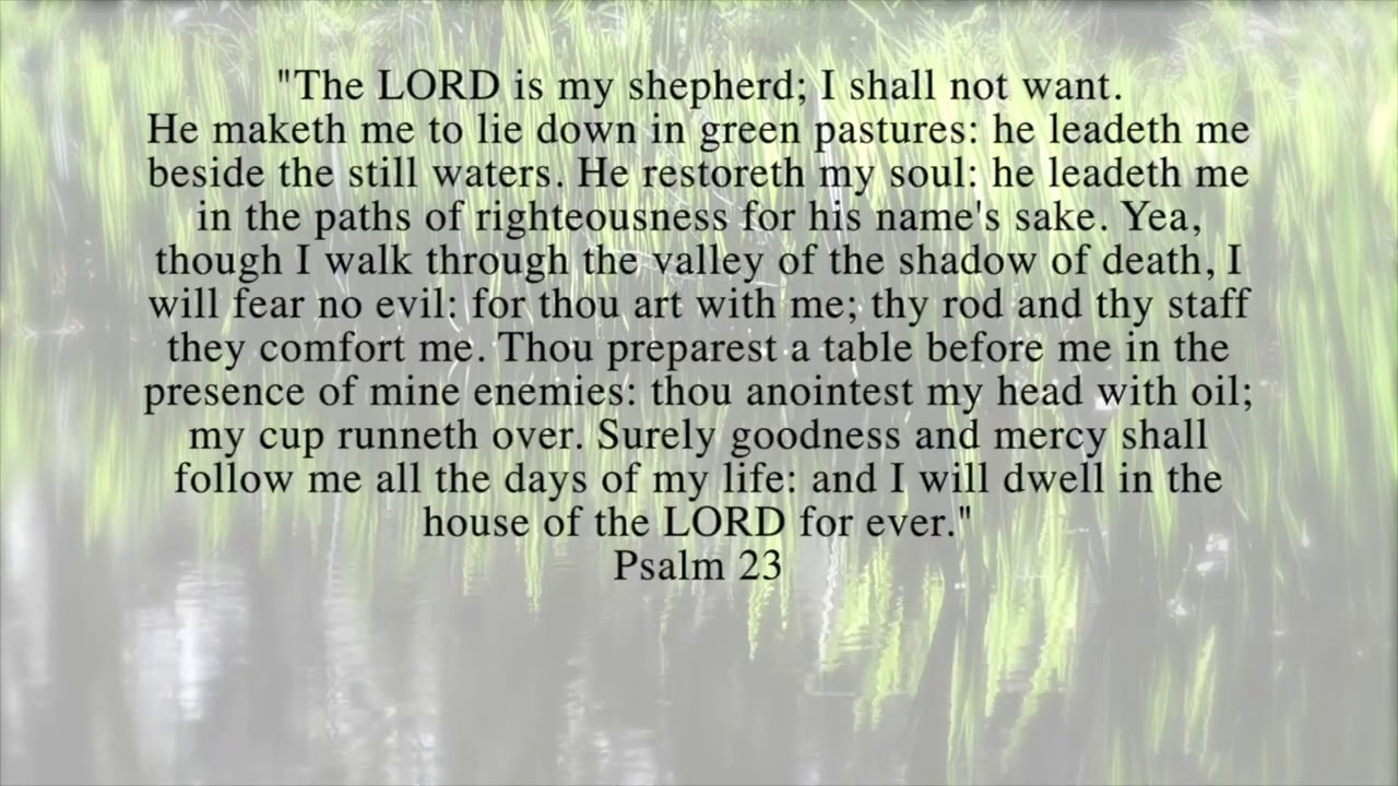 Meditation on Psalm 23 with Schubert