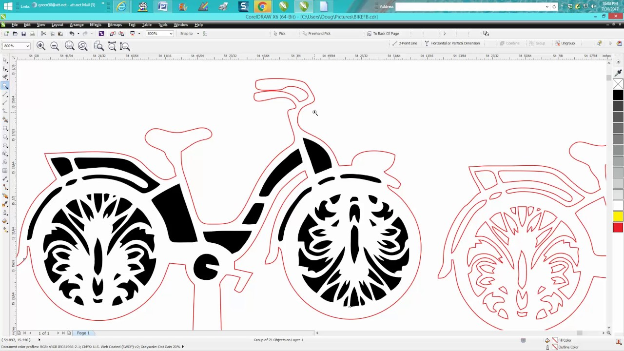 Corel draw clipart images - Corel Draw Tips Tricks Clean Up Bike Cake Topper Part 2