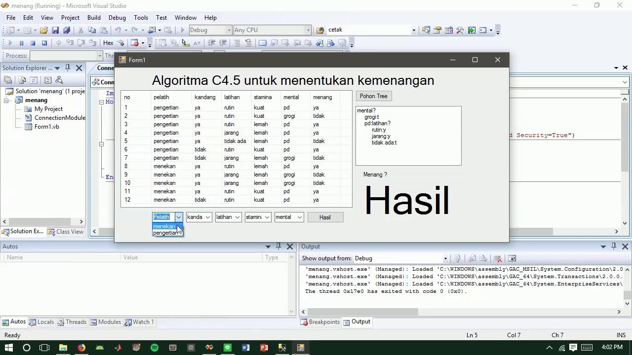 Aplikasi Data Mining Decision Tree Dengan Algoritma C4 5 Kreasi Mahasiswa Youtube
