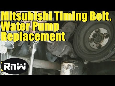 2002 Mitsubishi Galant Engine Diagram Toggle Switch Wiring 12v How To Remove And Replace The Timing Belt Water Pump - 2.4l Sohc Part 1 ...