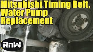 How to Remove and Replace the Timing belt and Water Pump - Mitsubishi 2.4L SOHC Engine PART 1