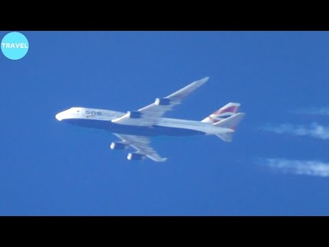 A380 VS 747! Close-Up Air to Air Race Over the Atlantic!