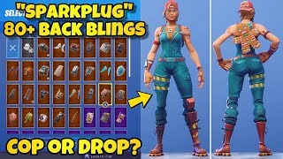"NEW ""SPARKPLUG"" SKIN Showcased With 80+ BACK BLINGS! Fortnite Battle Royale (BEST SPARKPLUG COMBOS)"