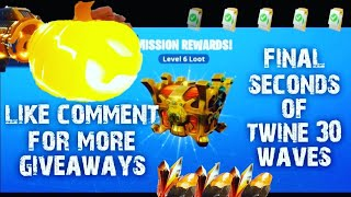 NEW GIVEAWAY FINAL SECONDS 30 WAVES ENDURANCE TWINE PEAKS FORTNITE SAVE THE WORLD