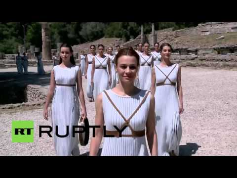 Greece: Ancient Olympia hosts 80th Olympic flame ceremony ahead of Rio 2016