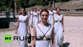 Video Greece: Ancient Olympia hosts 80th Olympic flame ceremony ahead of Rio 2016 download MP3, 3GP, MP4, WEBM, AVI, FLV Mei 2018