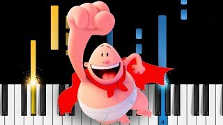 Captain Underpants - Theme Song - Piano Tutorial
