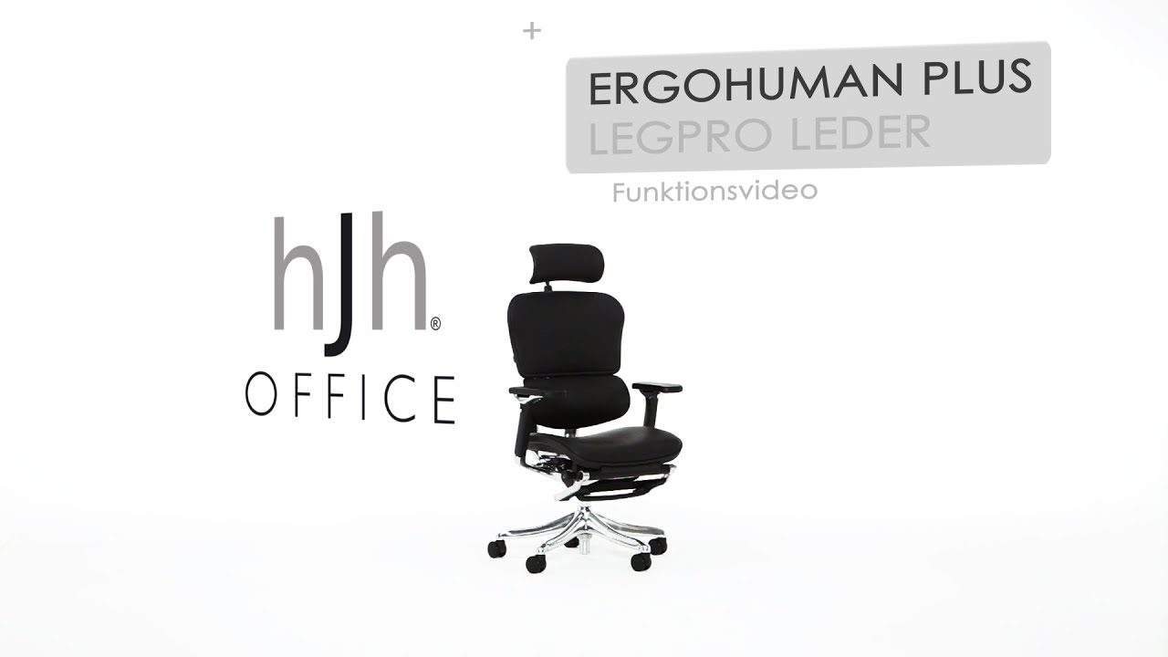 ERGOHUMAN PLUS LEGPRO Leder Funktionsvideo