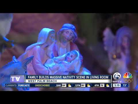 West Palm Beach family builds massive nativity scene inside home