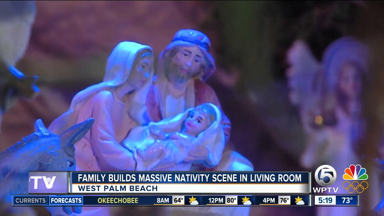 West Palm Beach family builds massive nativity scene inside home
