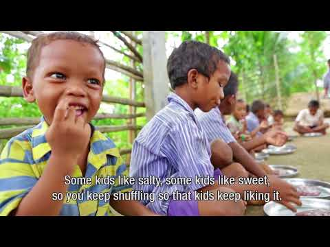 Serving Millets in Tribal Schools of Srikakulam district, India