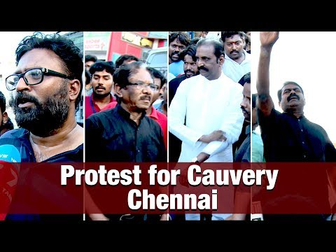 Protest for #Cauvery at Chennai Anna Salai full video | Bharathiraja Seeman Arrested | IBC TAMIL