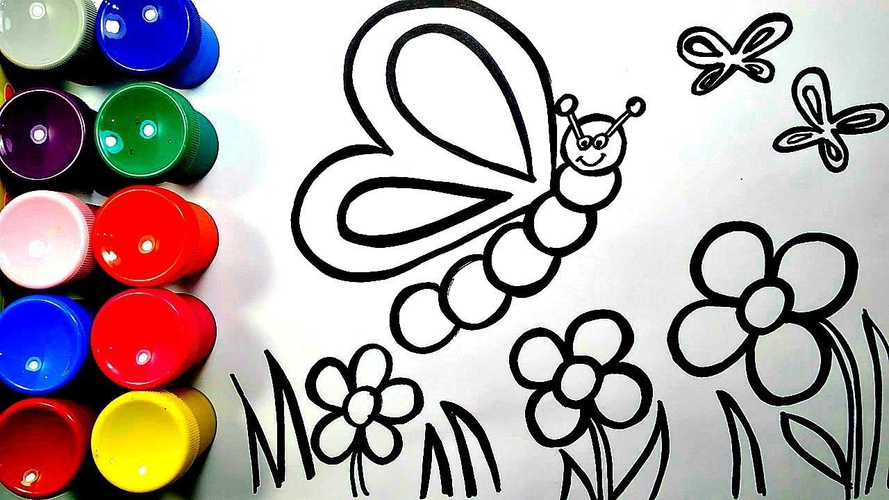 Раскраска бабочка для детей 🦋🦋🦋 - YouTube