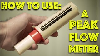 How to Use A Pęak Flow Meter - PEFR in Asthma diagnosis - Inhaler demo - Clinical Skills - Dr Gill