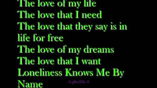Westlife - Loneliness Knows Me By Name with Lyrics