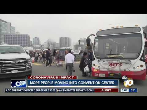 More homeless being moved into San Diego convention center