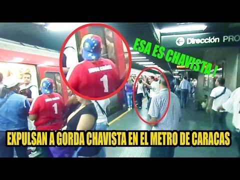TOMA DE CARACAS. EXPULSAN A CHAVISTA DEL METRO.