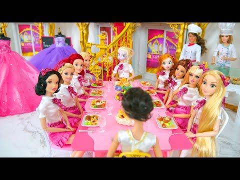 Royal School life of Princess Dolls & Barbie Prinzessin Schule École de princesse boneka Barbie