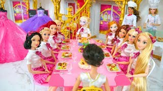 Royal School life of Princess Dolls & Barbie Prinzessin Schule École de princesse boneka Barbie