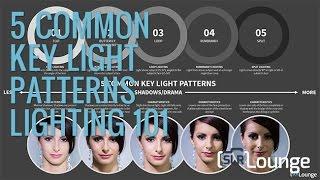 5 Common Key Light Patterns | Lighting 101