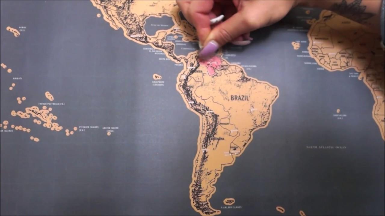 Scratchmap Weltkarte Deluxe Edition Zum Freirubbeln Youtube