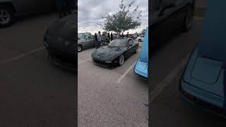 Rx-7 FD leaving cars and coffee
