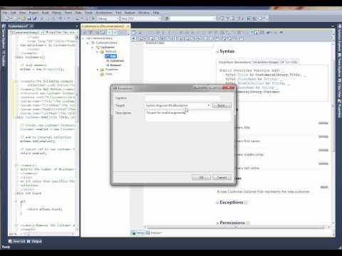 Using Document! X With Visual Studio 2010