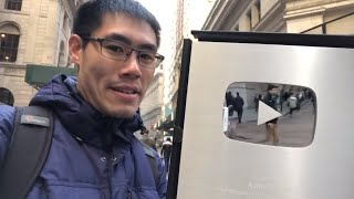 NYC LIVE Walk to Work in Manhattan with the YouTube Silver Play Button
