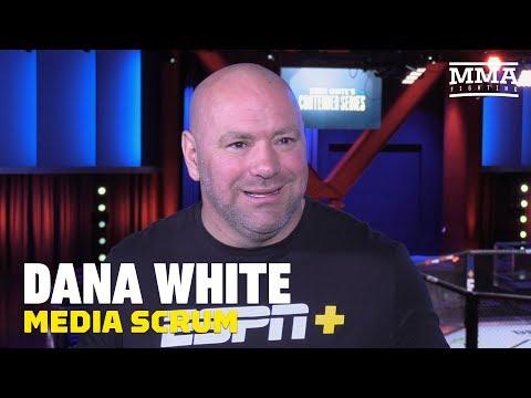 Video: Dana White UFC Apex opening media scrum