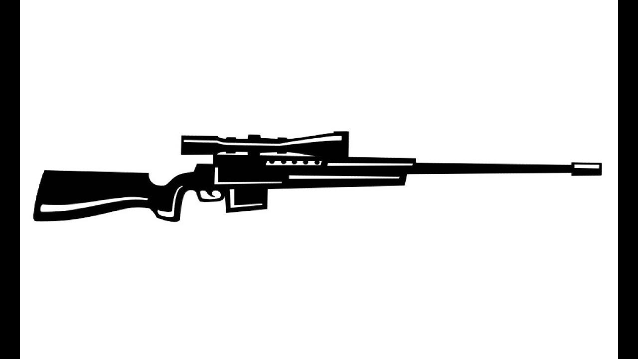 How to Draw a Sniper Rifle / Как нарисовать снайперскую