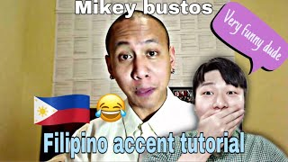 How filipino accent is spoken by kuya mikey bustos | korean reaction
