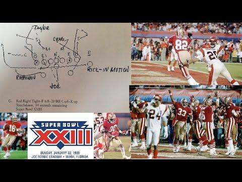 Bill Walsh Draws Super Bowl XXIII Winning Play - Joe Montana to John Taylor