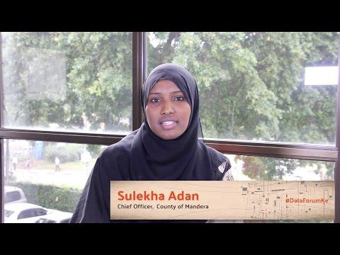 Sulekha Adan - Chief Officer, County Of Mandera #DataForumKE