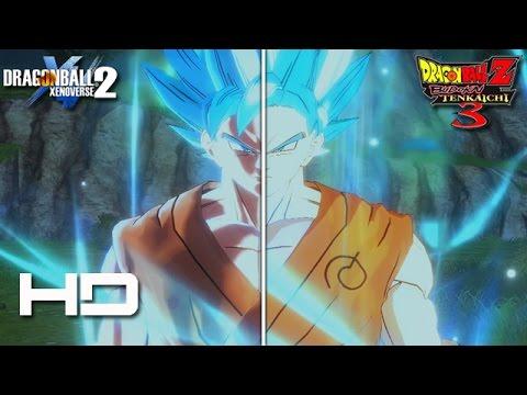 DRAGON BALL XENOVERSE 2 - Budokai Tenkaichi 3/Xenoverse 2 Retexture Side By Side Comparison Graphics