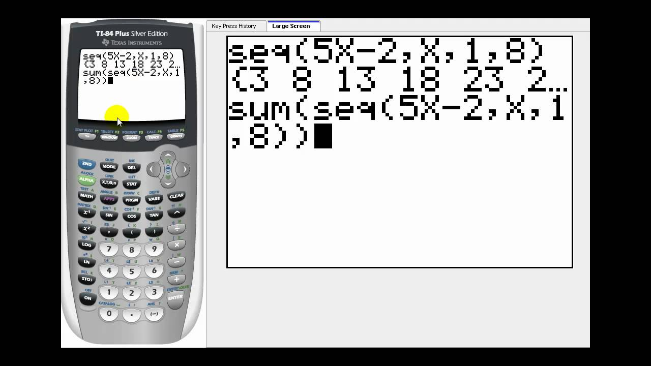 Sequences and Series on the TI83/84 Graphing Calculator