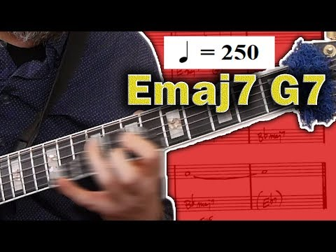How To Solo Over Fast Moving Chord Changes - Jazz Guitar